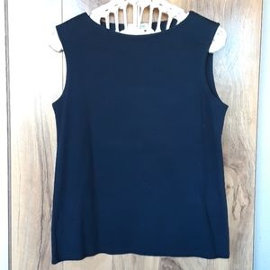 NWT Coldwater Creek Black Boat Neck Top